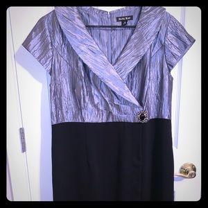 Dana Kay two tone knee length dress